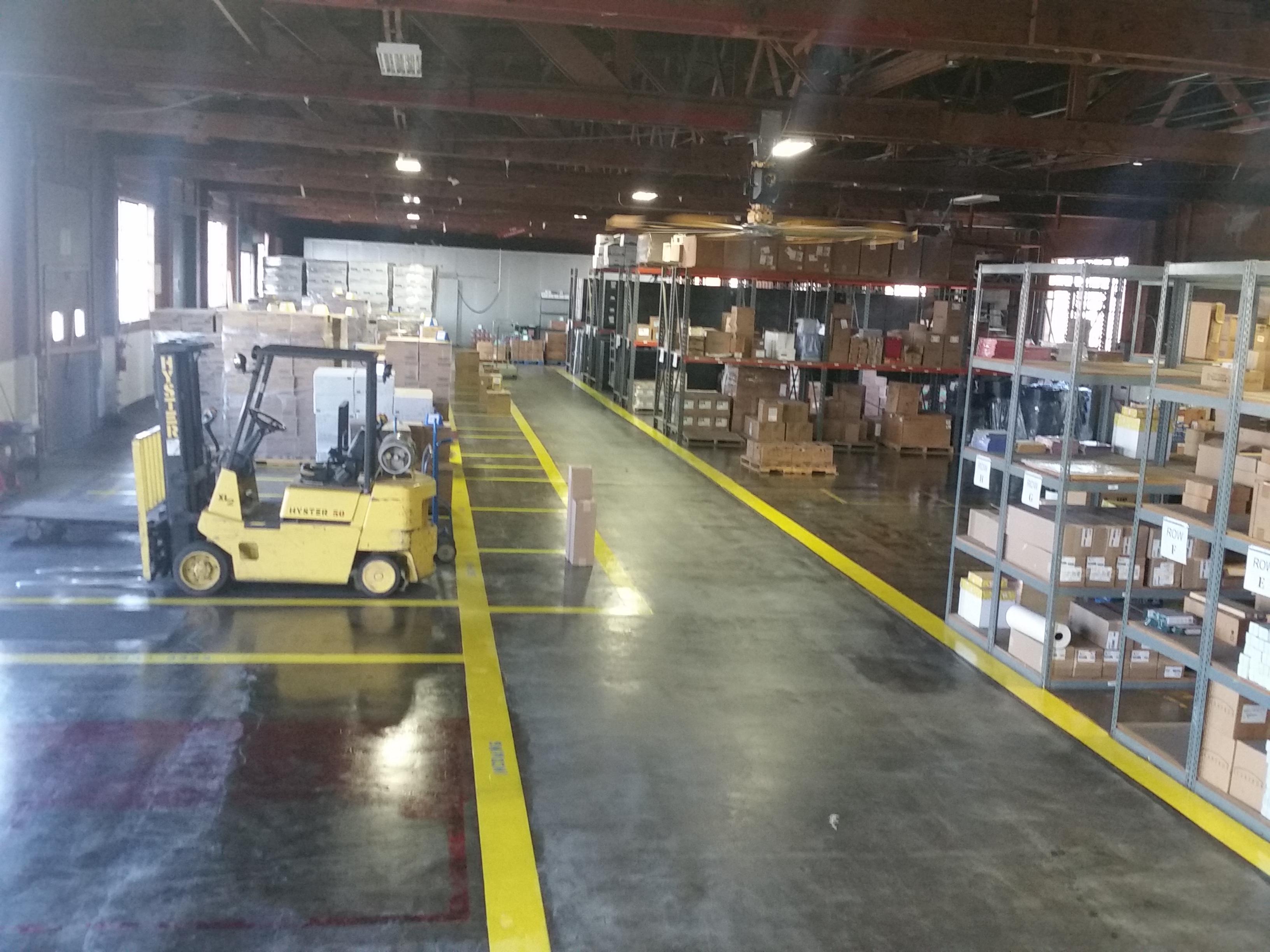 Image: Warehouse storage items